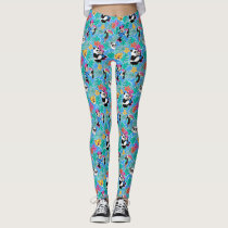 Minnie Mouse   Tropical Summer Pattern Leggings