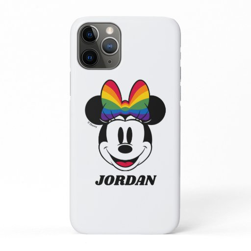 Minnie Mouse Wearing Rainbow Bow iPhone 11 Pro Case