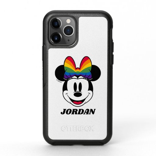 Minnie Mouse Wearing Rainbow Bow OtterBox Symmetry iPhone 11 Pro Case