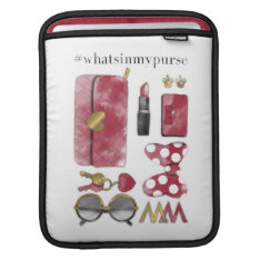 Minnie Mouse   #what'sinmypurse Sleeve For Ipads at Zazzle