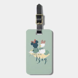 Minnie Mouse y grande ideal del pato el   de la Etiqueta De Maleta
