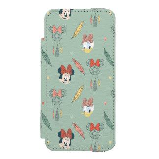 Minnie Mouse y modelo ideal del colector del pato Funda Billetera Para iPhone 5 Watson