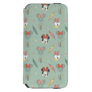 Minnie Mouse y modelo ideal del colector del pato Funda Billetera Para iPhone 6 Watson