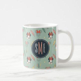 Minnie Mouse y monograma ideal del colector del Taza Clásica