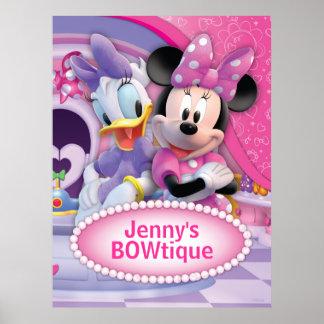 Minnie Mouse y personalizable de la margarita Póster