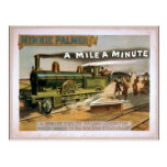 Minnie Palmer, 'A mile a minute' Vintage Theater Postcard
