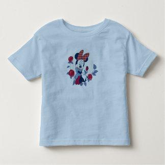 Minnie picks a rose toddler t-shirt
