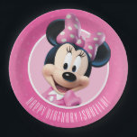 "Minnie Pink and White Birthday Paper Plate<br><div class=""desc"">Minnie Mouse</div>"