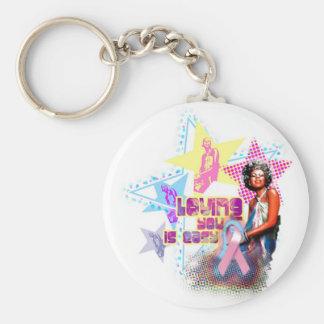 Minnie Pink Ribbon Keychain