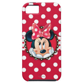 Minnie Polka Dot Frame iPhone 5 Cases