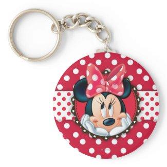 Minnie Polka Dot Frame Keychain
