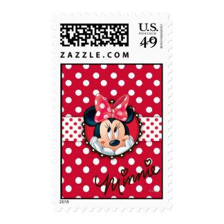 Minnie Polka Dot Frame Postage Stamps