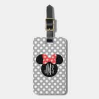 Minnie Polka Dot Head Silhouette | Monogram Bag Tag