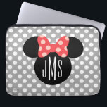 "Minnie Polka Dot Head Silhouette | Monogram Computer Sleeve<br><div class=""desc"">Customize this Minnie Mouse Head Silhouette with your monogram.</div>"