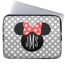 Minnie Polka Dot Head Silhouette | Monogram Computer Sleeve