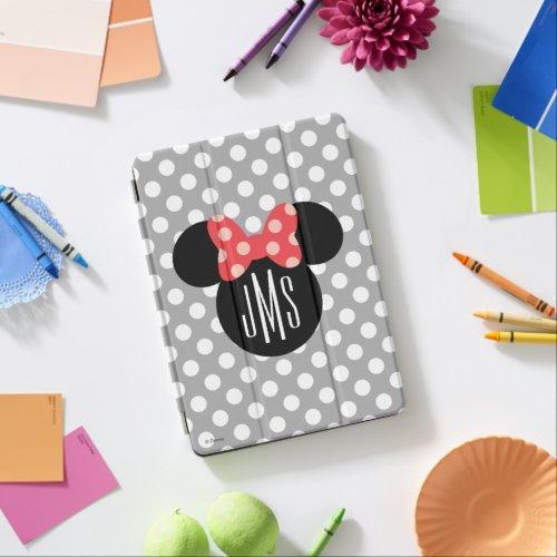 Minnie Polka Dot Head Silhouette | Monogram iPad Air Cover