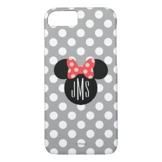 Minnie Polka Dot Head Silhouette   Monogram iPhone 8/7 Case