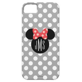 Minnie Polka Dot Head Silhouette   Monogram iPhone SE/5/5s Case