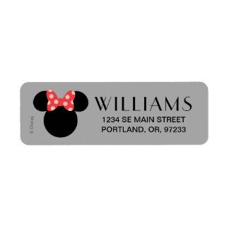 Minnie Polka Dot Head Silhouette   Monogram Label