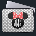 "Minnie Polka Dot Head Silhouette | Monogram Laptop Sleeve<br><div class=""desc"">Customize this Minnie Mouse Head Silhouette with your monogram.</div>"