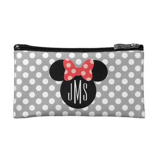 Minnie Polka Dot Head Silhouette | Monogram Makeup Bag