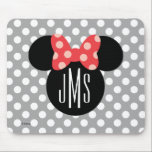 "Minnie Polka Dot Head Silhouette | Monogram Mouse Pad<br><div class=""desc"">Customize this Minnie Mouse Head Silhouette with your monogram.</div>"