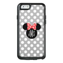 Minnie Polka Dot Head Silhouette   Monogram OtterBox iPhone 6/6s Case