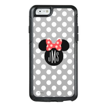 Minnie Polka Dot Head Silhouette | Monogram Otterbox Iphone 6/6s Case by disney at Zazzle