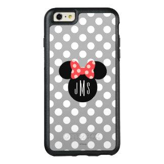 Minnie Polka Dot Head Silhouette   Monogram OtterBox iPhone 6/6s Plus Case
