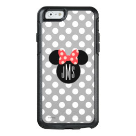 Minnie Polka Dot Head Silhouette | Monogram OtterBox iPhone 6/6s Case