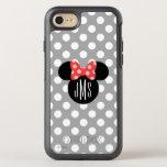 "Minnie Polka Dot Head Silhouette | Monogram OtterBox Symmetry iPhone 8/7 Case<br><div class=""desc"">this Minnie Mouse Head Silhouette with your monogram.</div>"