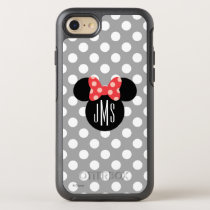 Minnie Polka Dot Head Silhouette | Monogram OtterBox Symmetry iPhone 8/7 Case