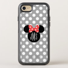 Minnie Polka Dot Head Silhouette | Monogram Otterbox Symmetry Iphone 8/7 Case at Zazzle