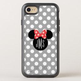 Minnie Polka Dot Head Silhouette   Monogram OtterBox Symmetry iPhone 8/7 Case
