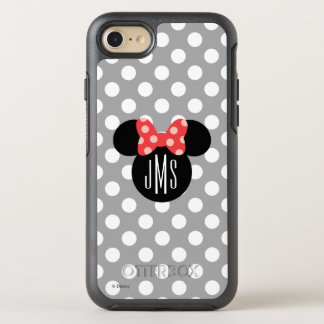 Minnie Polka Dot Head Silhouette | Monogram OtterBox Symmetry iPhone 8/7 Case