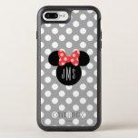 "Minnie Polka Dot Head Silhouette | Monogram OtterBox Symmetry iPhone 8 Plus/7 Plus Case<br><div class=""desc"">this Minnie Mouse Head Silhouette with your monogram.</div>"