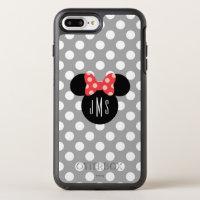 Minnie Polka Dot Head Silhouette | Monogram OtterBox Symmetry iPhone 8 Plus/7 Plus Case