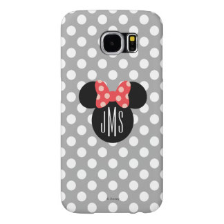 Minnie Polka Dot Head Silhouette | Monogram Samsung Galaxy S6 Case