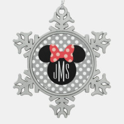 Pewter Snowflake Ornament with Disney: I Love California design