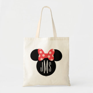 Minnie Polka Dot Head Silhouette | Monogram Tote Bag