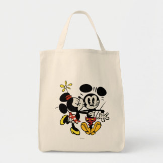 Minnie que besa a Mickey Bolsa Tela Para La Compra