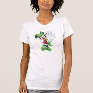 Minnie que sostiene el copo de nieve t shirts