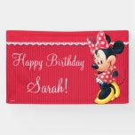 Minnie Red and White Birthday Banner