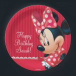 "Minnie Red and White Birthday Paper Plate<br><div class=""desc"">Minnie Mouse</div>"