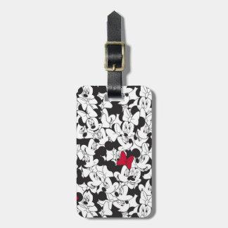 Minnie Red Bow Pattern Bag Tag