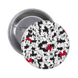 Minnie Red Bow Pattern Buttons