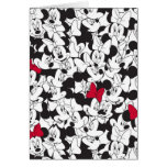 Minnie Red Bow Pattern Greeting Cards