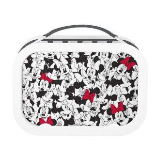 Minnie Red Bow Pattern Yubo Lunchboxes