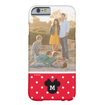 Disney Themed Minnie Red Polka Dot | Custom Photo & Monogram Barely There iPhone 6 Case