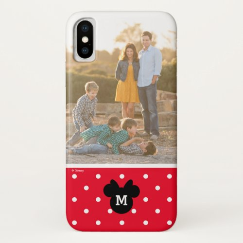 Minnie Red Polka Dot | Custom Photo & Monogram Phone Case